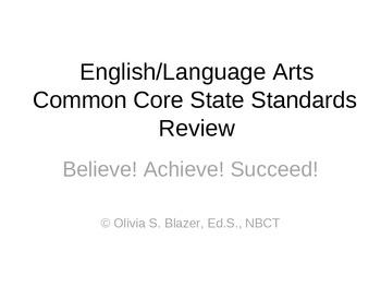 3rd Grade English/Language Arts Common Core Comprehensive Test Prep Review