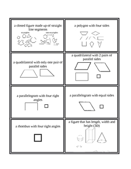 3rd Grade Envision Math Topic 12 Vocabulary Supplemental