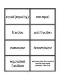 3rd Grade Envision Math Topics 10 & 11 Vocabulary Supplemental