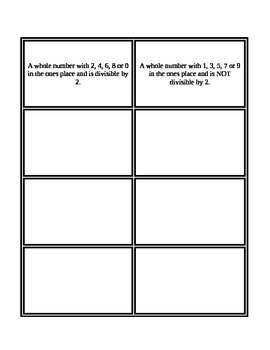 3rd Grade Envision Math Topics 6 & 7 Vocabulary Supplemental