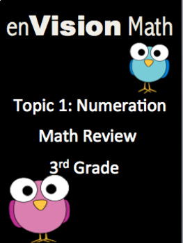 3rd Grade EnVision Topic 1 Math Review Projectable