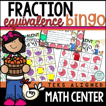 3rd Grade EQUIVALENT FRACTION BINGO TEKS 3.3F 3.3A 3.3C 3.3G