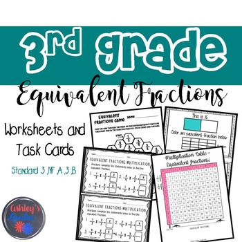 3rd Grade Equivalent Fractions Packet (3.NF.A.3.B) by Ashley\'s Goodies