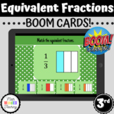 3rd Grade Equivalent Fractions | 3.NF.A3 | BOOM Cards