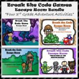 3rd Grade Escape Room Adventure Bundle (Math Calculation & Word Problems)