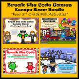 3rd Grade Escape Room Fall Seasonal Bundle (Math Calculation & Word Problems)