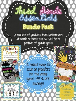 3rd Grade Essentials Bundle Pack
