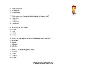 3rd Grade Estimating Length