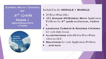 3rd Grade Eureka Math / Engage NY Application Problems: Module 1