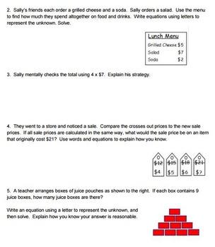 3rd Grade Eureka Math Mid & End of Module Practice Worksheets Modules 1,2,3