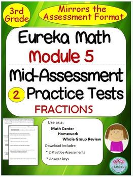 3rd Grade Eureka Math Module 5 Mid-Module Practice Assessments