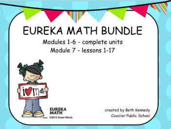 3rd Grade Eureka Math - Modules 1-7 BUNDLE