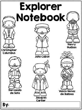 3rd Grade European Explorers Notebook Cover