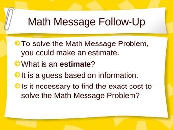 3rd Grade Everyday Math Lesson 1.11