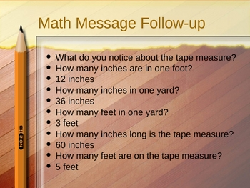 3rd Grade Everyday Math Lesson 3.3
