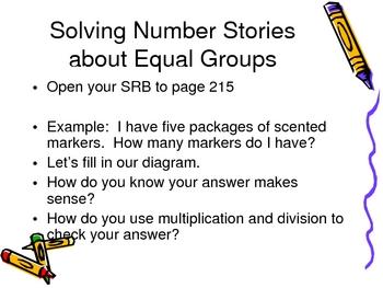 3rd Grade Everyday Math Lesson 4.1