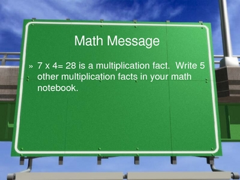 3rd Grade Everyday Math Lesson for 4.5 Multiplication