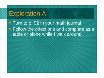 3rd Grade Everyday Math Lesson for 4.8 Exploration