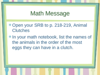 3rd Grade Everyday Math Lesson for 5.2 Ordering Numbers