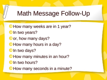 3rd Grade Everyday Math Lesson for 5.5 Very Large Numbers