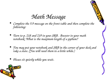 3rd Grade Everyday Math Lesson for 5.9