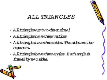 3rd Grade Everyday Math Lesson for 6.4 Exploring Triangles