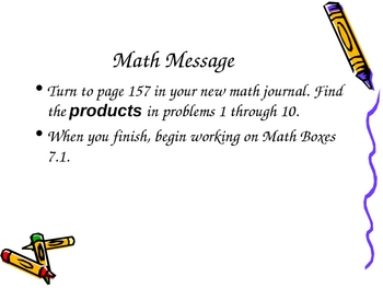 3rd Grade Everyday Math Lessons for Unit 7