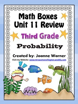 3rd Grade Everyday Math Review ~ Unit 11 Probability