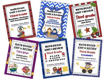 3rd Grade Everyday Math Semester Review ~ Units 1 -6