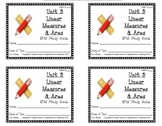 3rd Grade Everyday Math: Unit 3 Linear Measures & Area Study Guide
