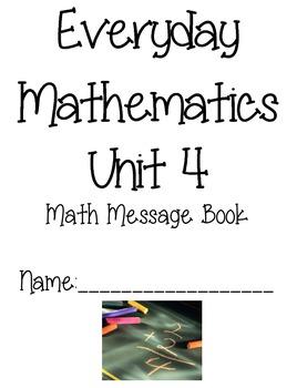3rd Grade Everyday Math Unit 4 Math Message Book