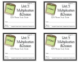 3rd Grade Everyday Math: Unit 4  Multiplication &Division Study Guide