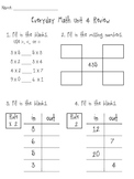 3rd Grade Everyday Math Unit 4 Review