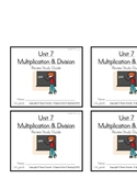 3rd Grade Everyday Math: Unit 7 Review Study Guide
