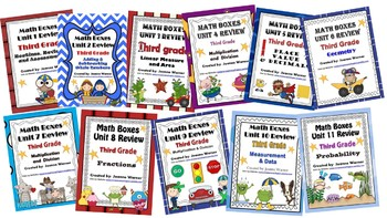 3rd Grade Everyday Math Yearly Review ~ Units 1 - 11