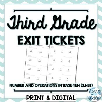 3rd Grade Exit Tickets   3.NBT