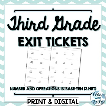 3.NBT Exit Tickets