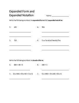 11rd Grade Expanded Form Worksheet