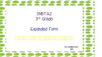 3rd Grade Expanded / Standard Form Task Cards  3.NBT