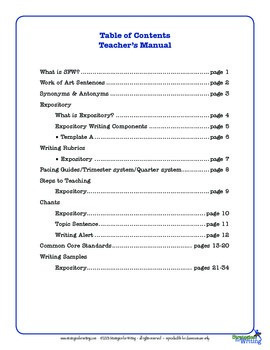 Informational Expository Writing Manual-3rd grade -Common Core-Shelle Allen