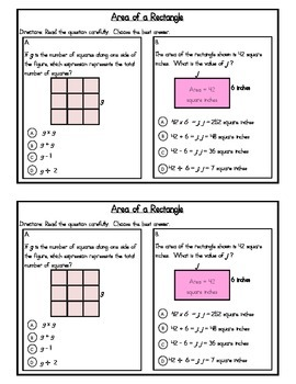 3rd Grade Expressions Math: Unit 2 Review Study Guide- Multiplication &Division