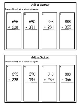 3rd Grade Expressions Math: Unit 4 Review Study Guide