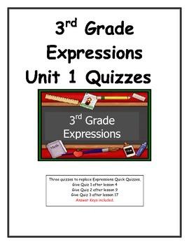 3rd Grade Expressions Unit 1 Quizzes