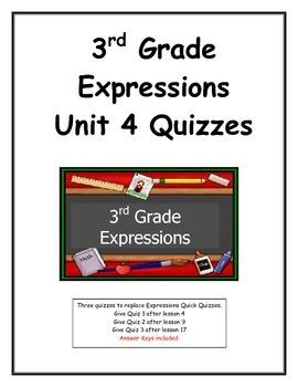 3rd Grade Expressions Unit 4 Quizzes