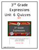 3rd Grade Expressions Unit 6 Quizzes