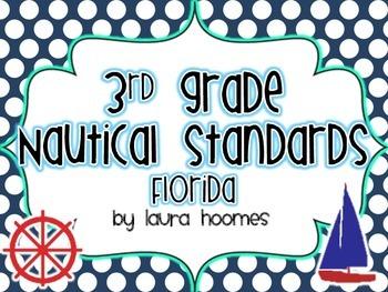 3rd Grade FLORIDA Nautical Standards 2