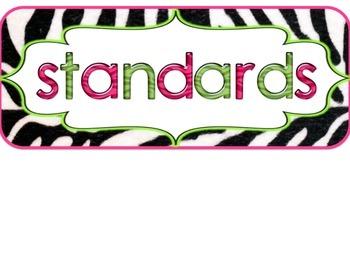 3rd Grade FLORIDA Zebra Print Standards