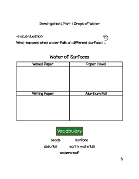 3rd Grade FOSS Water Unit Packet