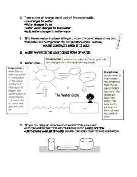3rd Grade FOSS Water Unit Study Guide