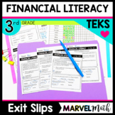 3rd Grade FINANCIAL LITERACY Exit Slips * Exit Tickets